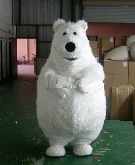 ohlees Backkom bear polar cartoon mascot costumes Chirstmas party Halloween Fancy Dress Adult Size professional custom made(China (Mainland))