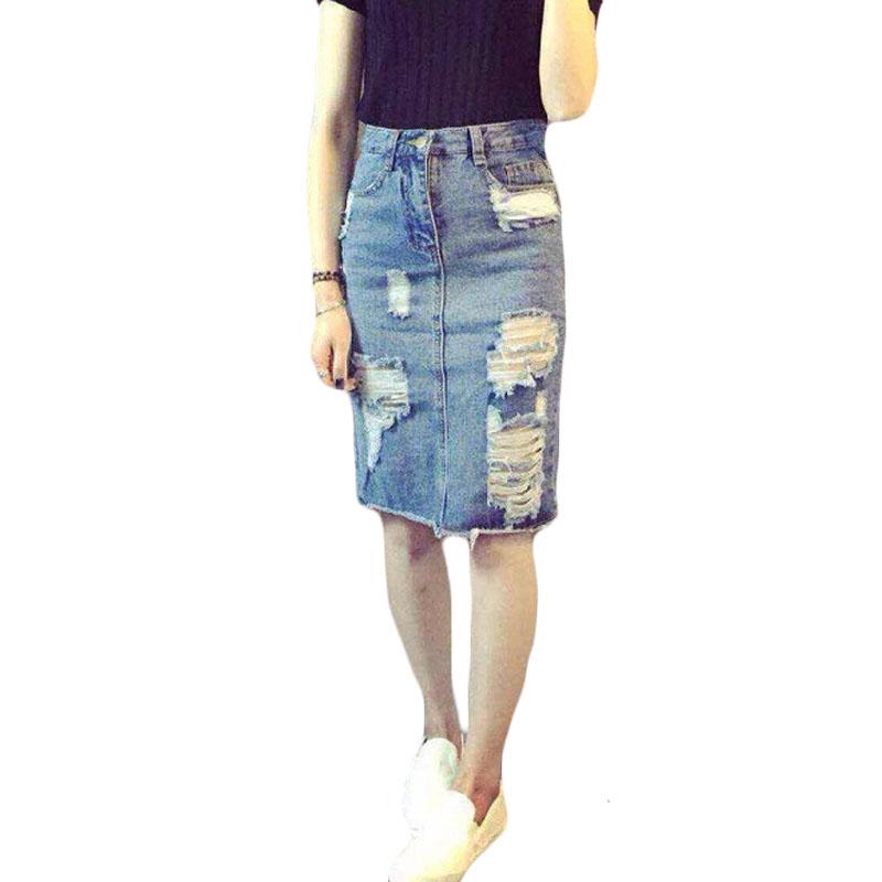 popular denim pencil skirt plus size buy cheap denim