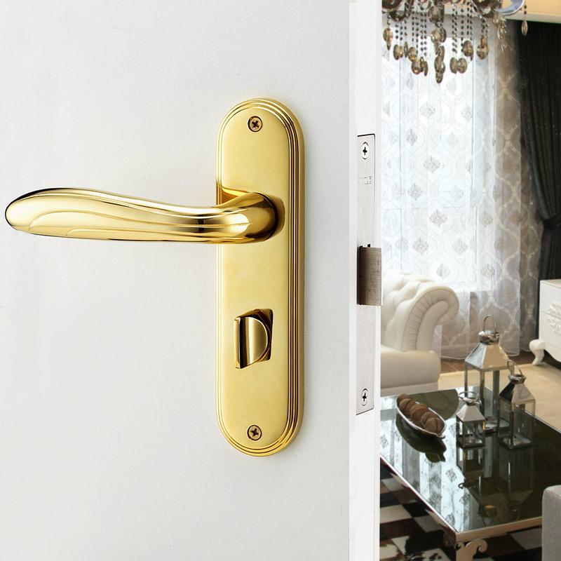 Interior door bedroom handle locks the bathroom lock Golden Babylon<br>