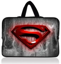 """15"""" 15.4'' 15.6'' Superman Neoprene Soft Laptop Sleeve Bag Case Pouch+Hide Handle For Dell inspiron 1545 15 15R(China (Mainland))"""