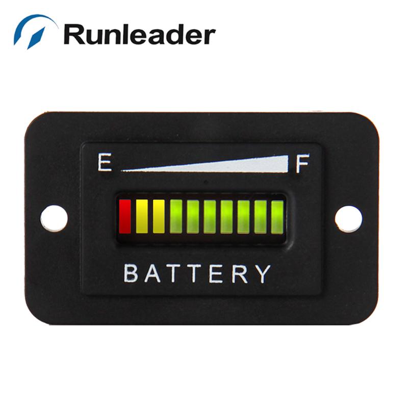 LED Battery Discharge Indicator 12&amp;24V,24V,36V,48V,72V for golf cart generators PUMP 10 pcs/lot<br><br>Aliexpress