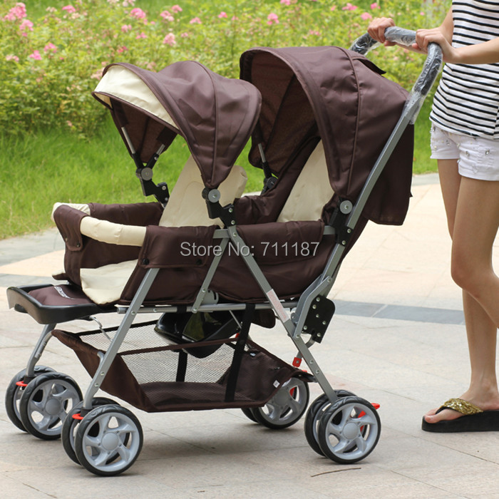 2014 The Newest Design Just For You and Your Lovely Baby Baby Double Stroller Twin Stroller Best Service Fast Delivery<br><br>Aliexpress
