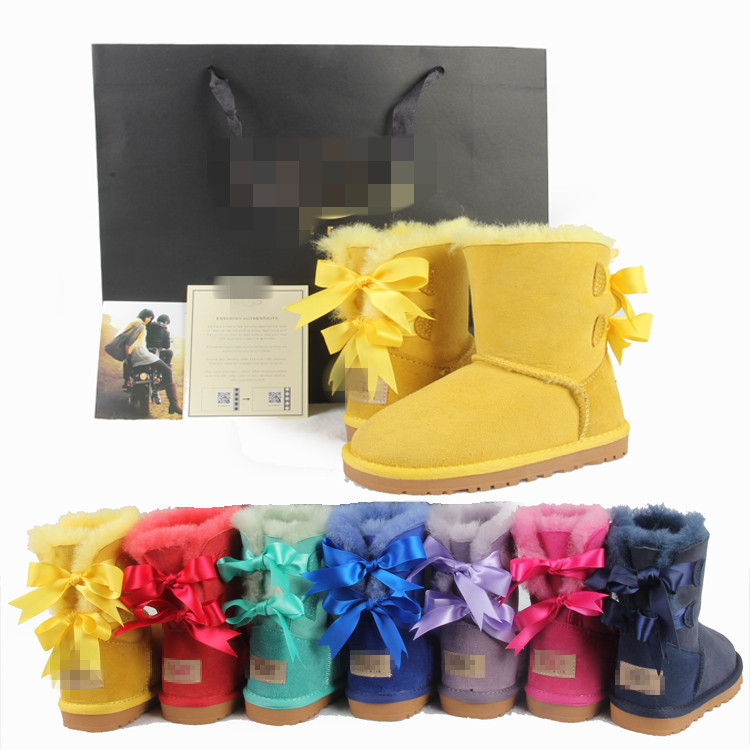 Australia's 2014 winter new fur baby shoes, children's snow boots free shipping(China (Mainland))
