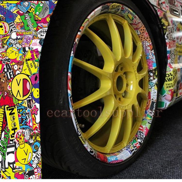 "60"" x 20"" JDM PIG CARTOON GRAFFITI CAR STICKER BOMB WRAP SHEET DECAL VINYL DIY(China (Mainland))"