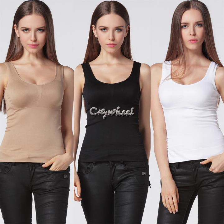 Free Shipping Women Slimming Vest Breast Lift Up Camisole Shaper Underwear Vest Tops Shapewear 41(China (Mainland))