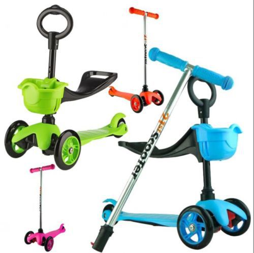 3 IN 1 NEW DESIGN SCOOTER KID CHILD TODDLER PUSH KICK 3 WHEEL CAR RIDE ON BABY TOY(China (Mainland))