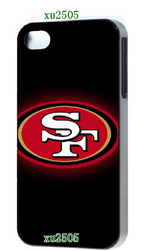 free shipping!2014 new arrival HOT selling San Frcases 49ers designs luxury Black hard case cover for iphone5 5s(China (Mainland))