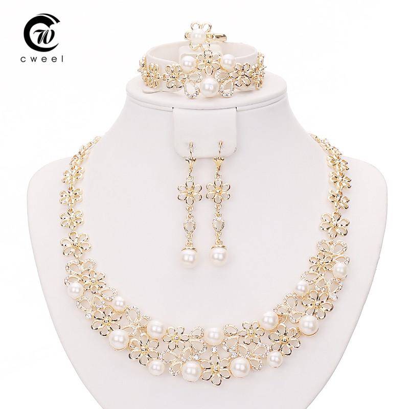 wedding necklace earrings bracelet ring set for