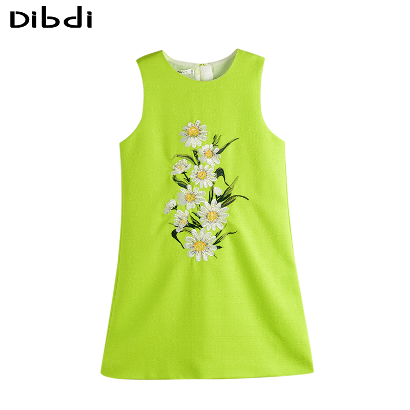 2016 Kids Summer Dress Girl Clothes Flower Print Sleeveless Girls Dresses Children Wedding Party Dress For Girls Age 2~8 Y CA371(China (Mainland))