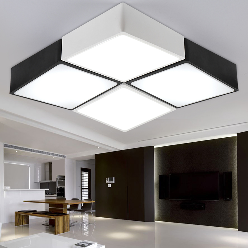 LED ceiling lights DIY minimalist modern ceiling lamp for livingroom bedroom lighting fixture Free shipping(China (Mainland))