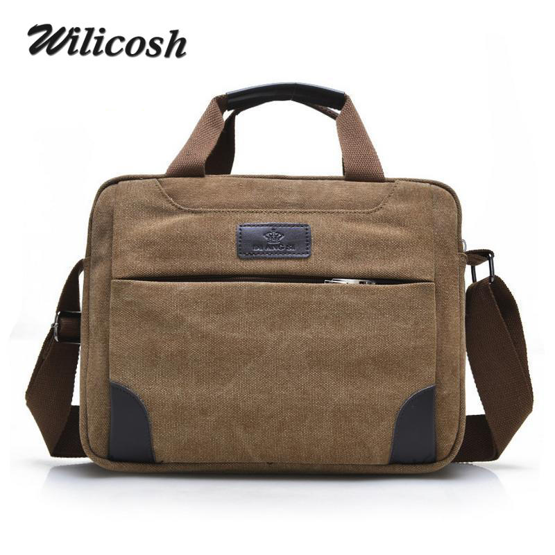 2016 New Arrival Men Canvas Briefcase Brand Business Shoulder Bag Men Messenger Bags Laptop Handbag Bag Men's Travel Bags DB5429(China (Mainland))