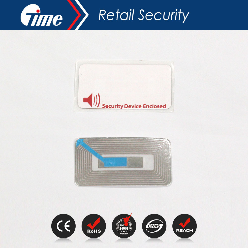RL4657 EAS 8.2MHz Security Soft Printed RF Paper Labels Tag Checkpoint Compatible(China (Mainland))