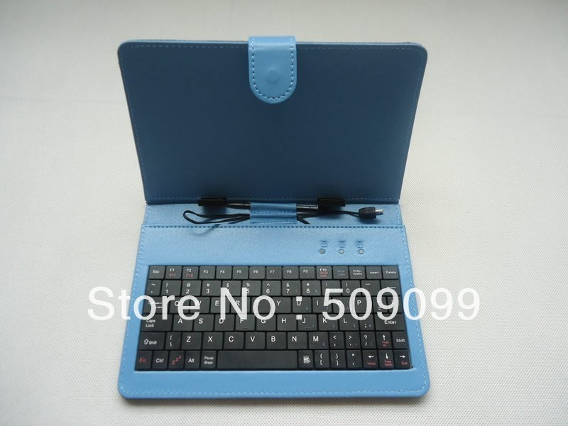 """Colorful 7 inch Plaid Grid Leather Case with Micro USB Keyboard Bracket Cover for 7"""" apad epad mid tablet pc High Quality(China (Mainland))"""
