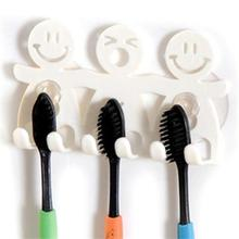 Suction Hooks 5 Position Tooth Brush Holder Bathroom Sets Cute Cartoon Sucker Toothbrush Holder (China (Mainland))