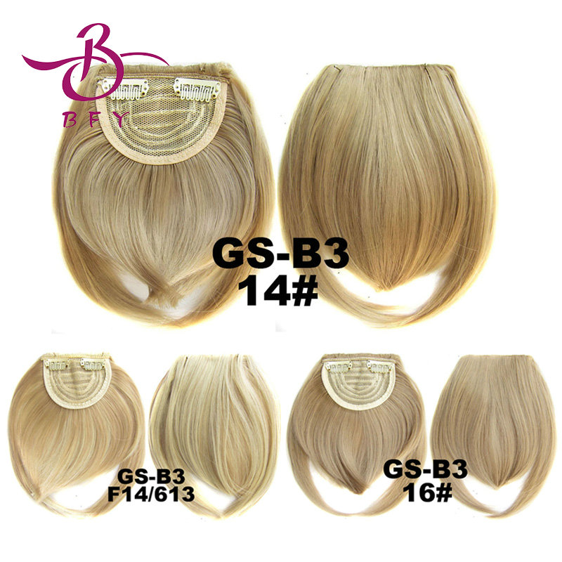Aliexpress UK 1pc clip in synthetic hair bang heat resistance fringe clips in fringe extension 16 colors available B3(China (Mainland))