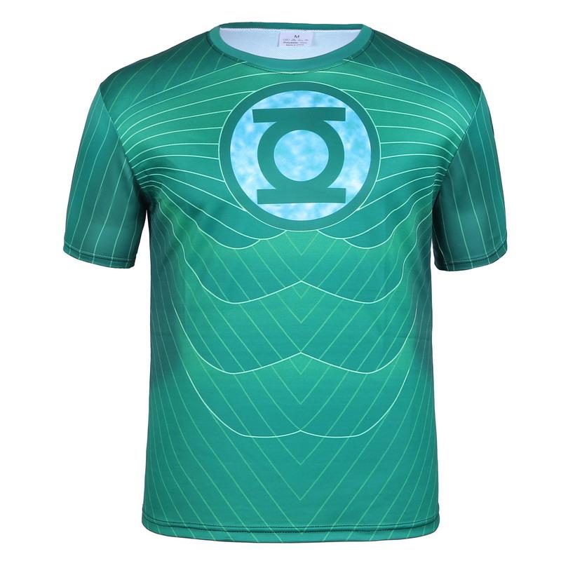 Green lantern T shirt gym armor compression marvel comics superhero captain America alliance 3 d printing T-shirt breathable(China (Mainland))