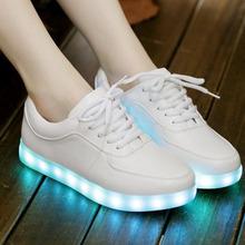 Led light casual shoes women 2017 Unisex shoes(China (Mainland))