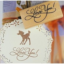 DIY Cute Kawaii Wooden Message Stamp Thank You Love You For You Merci Bonjour for Home Decoration Scrapbook Free shipping 10005(China (Mainland))