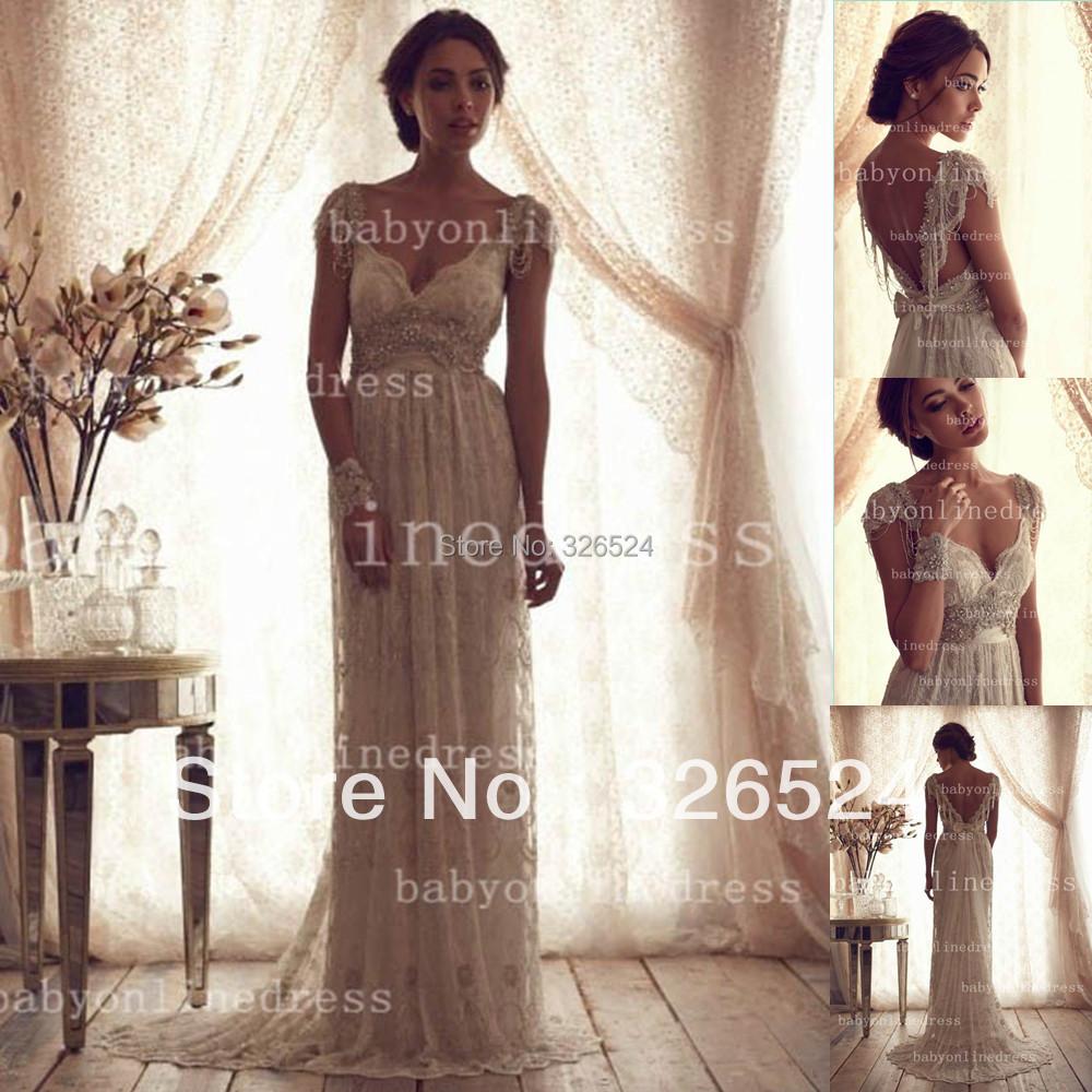 New arrivals 2014 crystal wedding dress v neck cap sleeve for Cap sleeve open back wedding dress