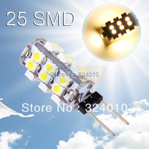 20pcs G4 25 SMD Warm White RV Marine Boat 25 LED Light Bulb Lamp free shipping(China (Mainland))