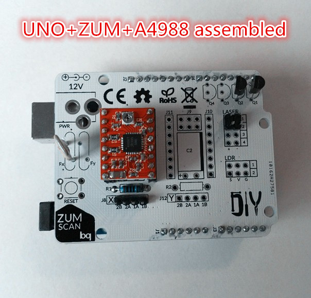 Ciclop 3d printer scanner boards kit Arduino uno controller ZUM Scan Expansion board 3d scanner DIY