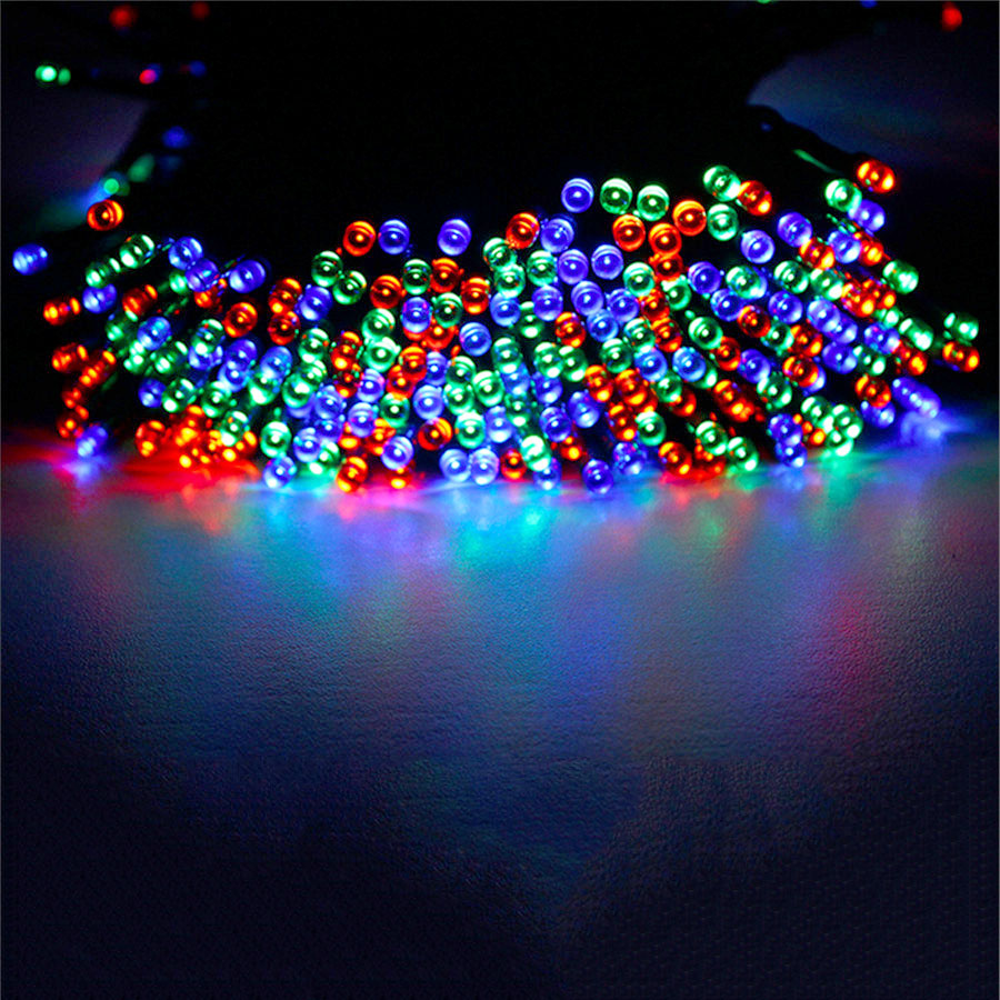 40m 400leds solar powered led garden lights fairy string for Outdoor christmas lights