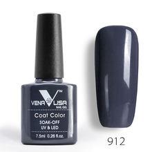CANNI Unhas de Gel Polonês de Alta Qualidade Nail Art Salon Dicas VENALISA 60 Venda Quente Cor 7.5 ml Soak off Orgânica LED UV Unhas de Gel Verniz(China)