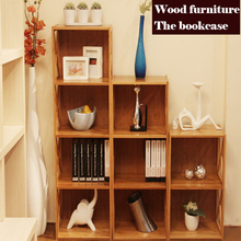 Multi function bookcase, wood cabinets, large space combination cabinets,Children's bookcase, children furniture,bamboo craft
