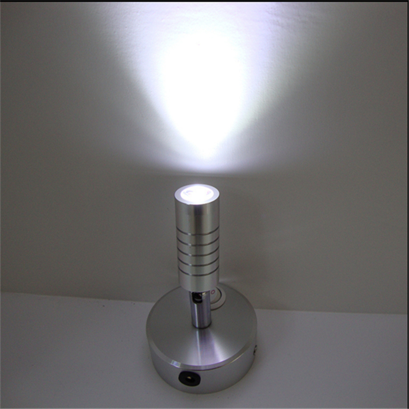 3 years warranty 1W/3W recharging led spot lamp ,rechargable battery wireless display lamp,switch model 360degree  wedding light