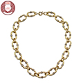 HALIFE Brand Bohemian Simple Style Crystal Choker Necklaces for Women 2016 New Fashion Jewelry Gold plated