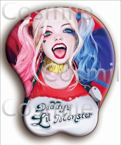 Harley Quinn Suicide Squad Batman Mouse Mat Pad 3D Bust Cos Gift Limited - chinesegirl5223 store