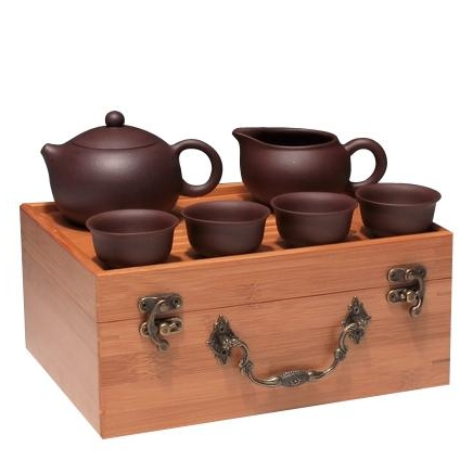 free shipping high quality Yixing kung fu tea set ceramic portable travel tea teaberries