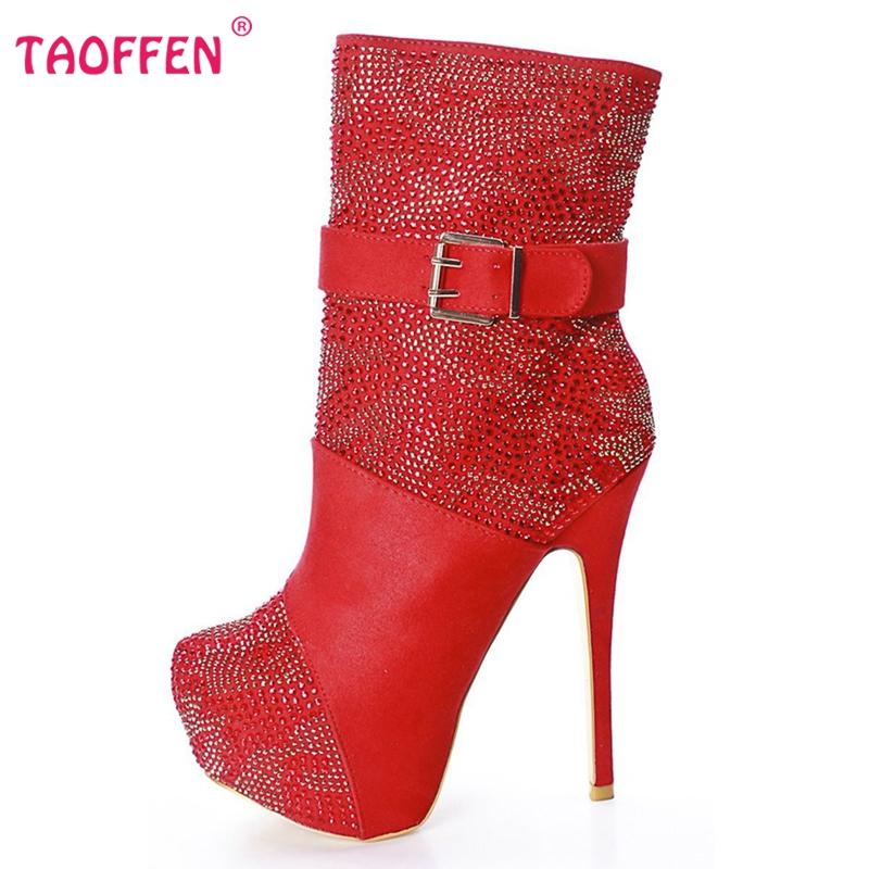 Фотография Women High Heel Half Short Boots Autumn Winter Botas Fashion Mix Color Shoes Women Sexy Heels Boot Zipper ShoesSize 35-46 B014