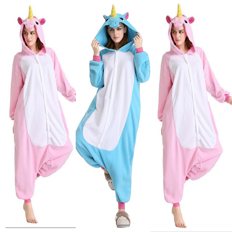 2016 New Polar fleece Onesie Unicorn Bear kangaroo Adult Animal Pyjamas women Animal pajamas one piece Sleepwear female(China (Mainland))
