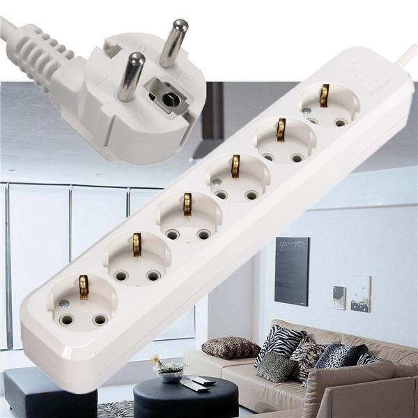 Hot EU Plug 6 Outlets AC Power Socket 250V Electrical Plug Adaptor Extension Socket Cable Wall Mains Lead Plug Strip Adapter(China (Mainland))