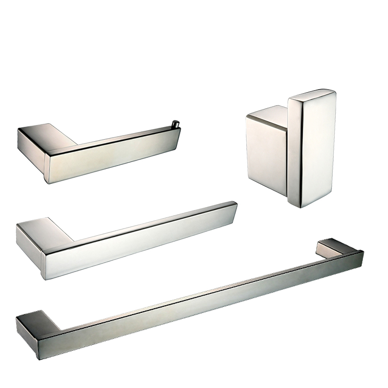 Bathroom Hardware Set Stainless Stell Polish Finish Toilet Paper Holder Towel