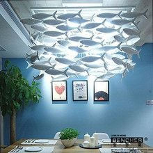 Bucherer Simple and stylish Creative ceramic lamp Ikea dining room chandelier decorative lighting Fish Light Accessories(China (Mainland))