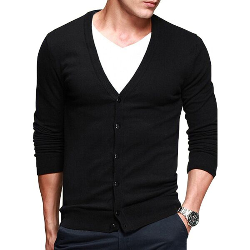Knit male the new men's cultivate one's morality cotton cardigan leisure fashion men's wear thin sweater big yard(China (Mainland))