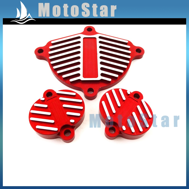 Alloy Cam Cover Valve Cap Dress Up Kit For Chinese YX 160cc 1P60FMK 150cc 1P60FMJ Engine Pit Dirt Bike Motorcycle Motocross Red(China (Mainland))