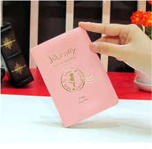 2015 HOT new cute passport cover card holder ticket case women wallet 3 color character cover