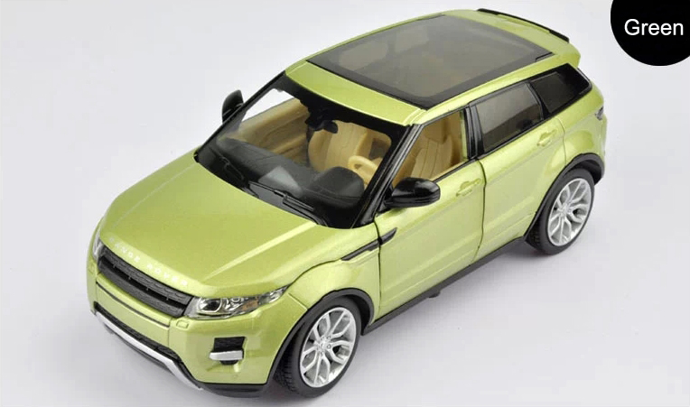 1:24 Scale Alloy Metal Diecast Car Model For Range Rover Evoque Collection Class Model Toys Car With Sound&Light - Green / Red(China (Mainland))