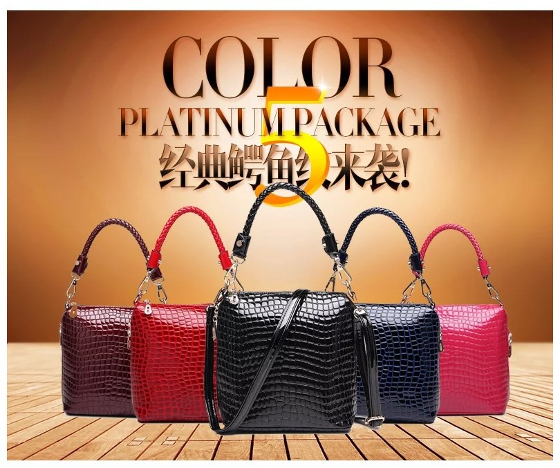 The new spring and summer 2015 new crocodile grain portable his female bag(China (Mainland))