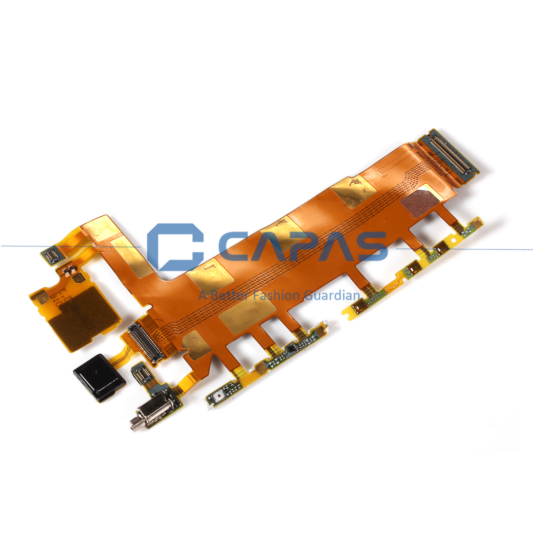 For Sony Xperia Z3 3G Side Power ON OFF Volume Key Button Switch Flex Cable with Mic Microphone Camera Shutter Vibrator Parts(China (Mainland))