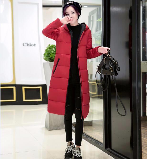 2016 kış Ceket Kadınlar anti-sis ve pus kapşonlu kalın sıcak ceket kadın gözlük kadın moda giyim ceket yastıklı parkas mujer