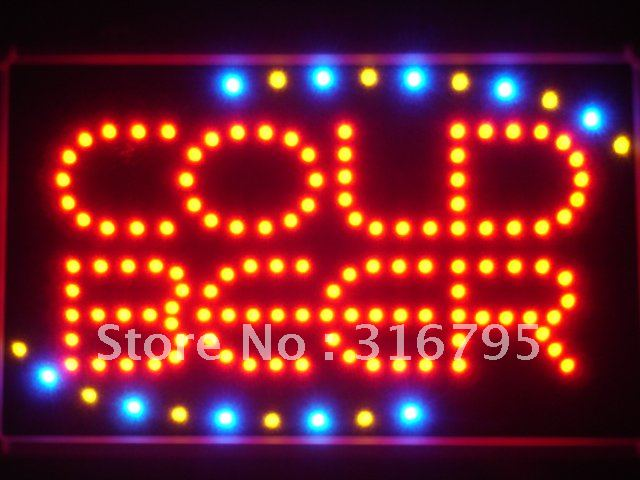 led004-r COLD BEER Bar OPEN LED Neon Light Sign Wholesale Dropshipping<br><br>Aliexpress