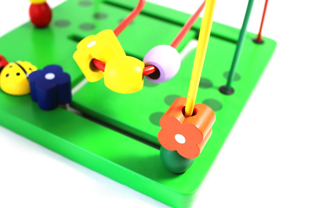 Academic Gentle Montessori picket toys for youngsters interactive beads toys with youngsters western model good toy birthday reward child