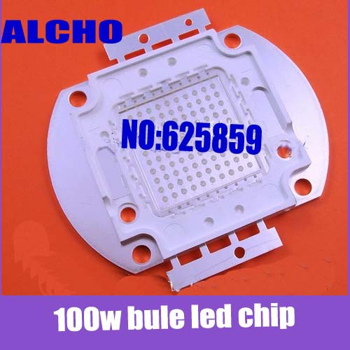 Free shipping 100W High Power Blue 460-470nm Light SMD1800-2500LM for DIY(China (Mainland))