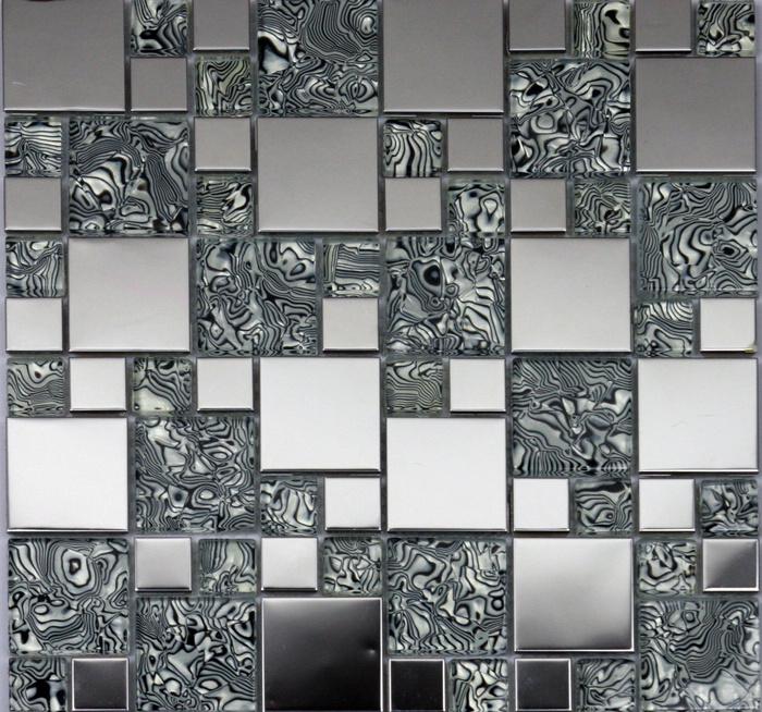 Гаджет  2014 Hot Stainless Steel Laminated Mosaic TV KTV Sitting Room Background Wall Mosaic Tile Stickers Three Color White Black Brown None Строительство и Недвижимость