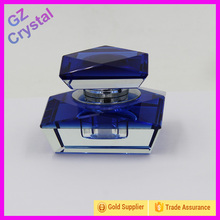 wholesale cheap price blue color transparent crystal craft glass perfume bottle for birthday gift on sale(China (Mainland))