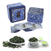 China Anxi Tieguanyin Oolong Tea Tie Guan Yin Luzhou-Flavor Tieguanyin Tea Premium With Blue And White Porcelain Gift 10pcs/ Box(China (Mainland))